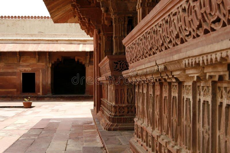 Tempelyard Fatehpur Sikri im Tempelkomplex Indien lizenzfreie stockbilder