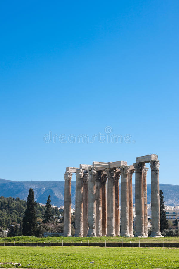 tempelzeus royaltyfri foto