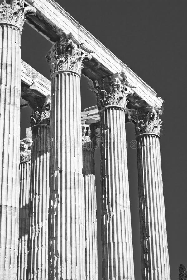 tempelzeus royaltyfria bilder