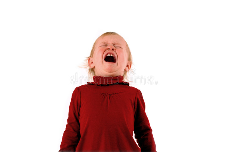 Temper Tantrum royalty free stock photography