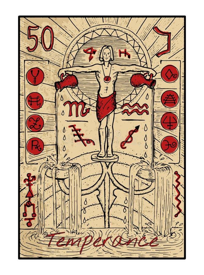 temperance La carta di tarocchi illustrazione vettoriale