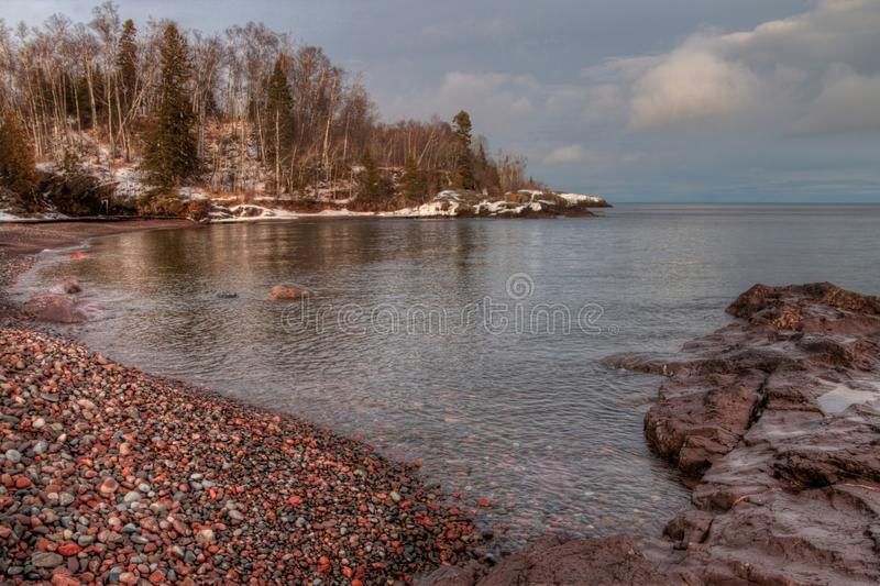 Temperance River is a State Park on the North Shore of Lake Superior in Minnesota royalty free stock image
