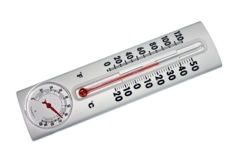 Temperatur und Feuchtigkeitsanzeiger lizenzfreie stockfotos