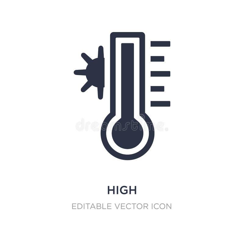 temperatura alta en un icono del termómetro en el fondo blanco Ejemplo simple del elemento del concepto general stock de ilustración