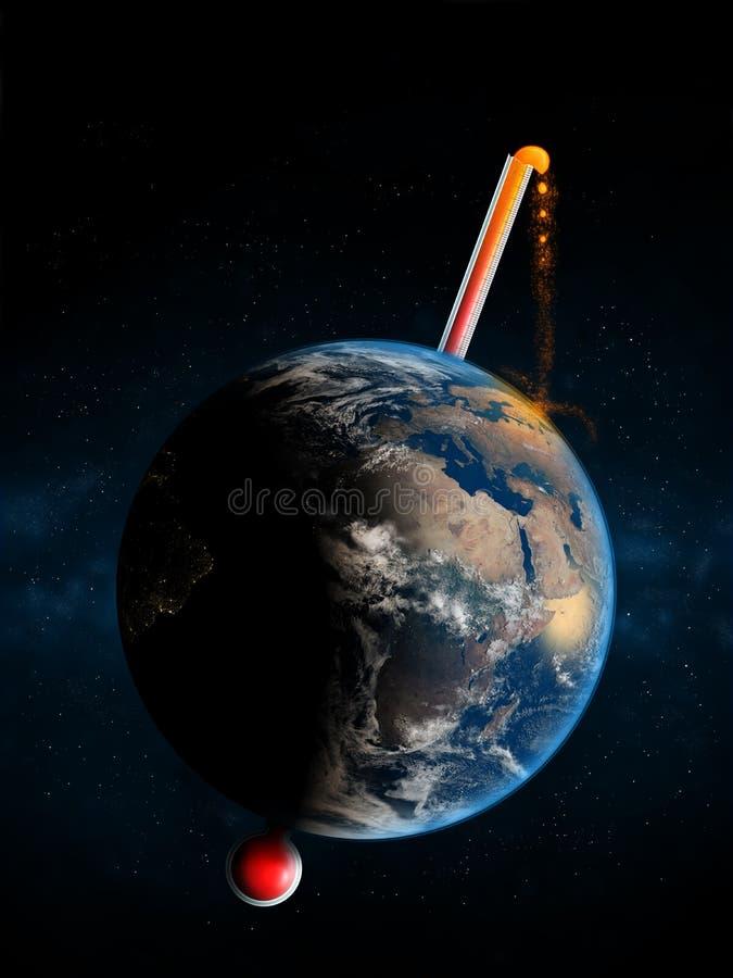 A temperatura da terra é crítica ilustração do vetor