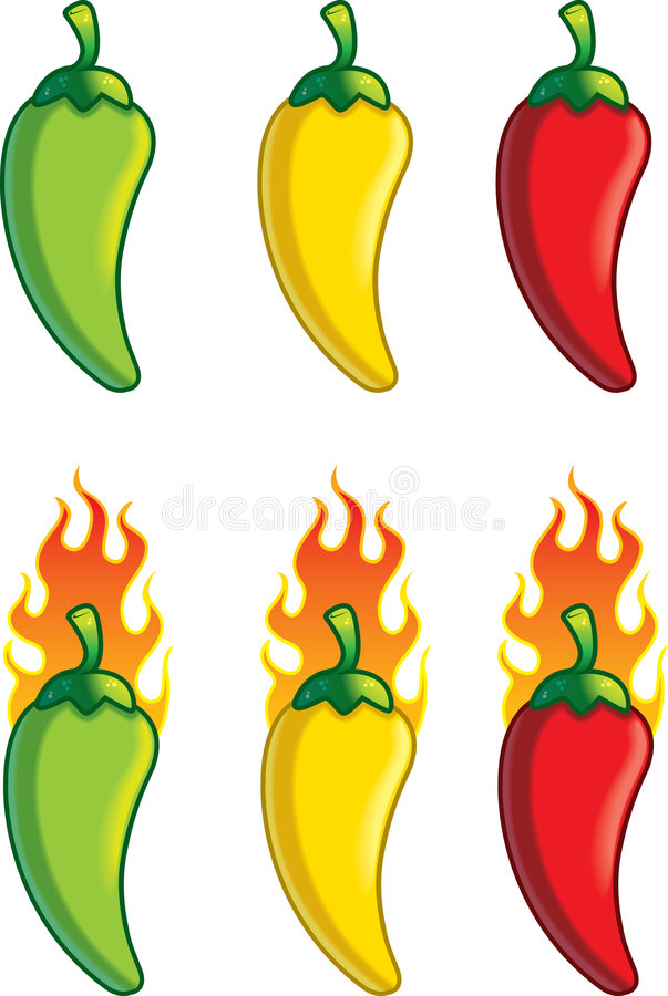 Temperatura de la pimienta libre illustration