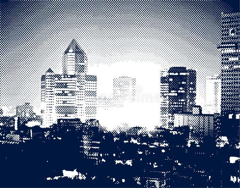 temperatura zapłonu miasta ilustracji