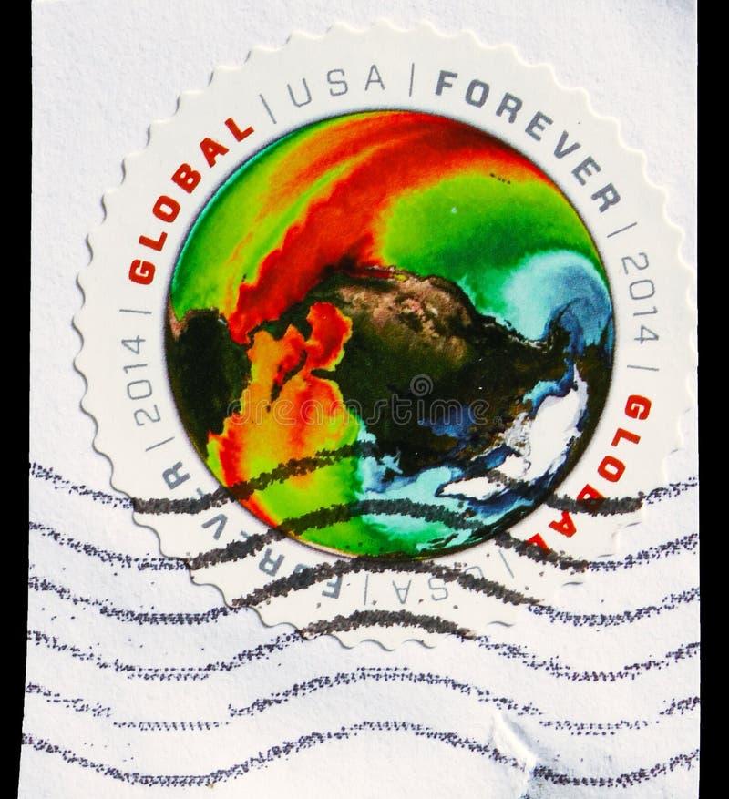 Temperaturas de superfície do mar, serie global da taxa, cerca de 2014 fotos de stock royalty free