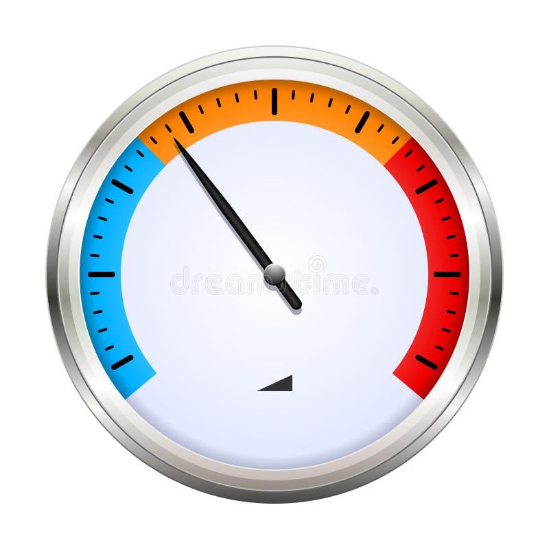 Temperature gauge stock illustration