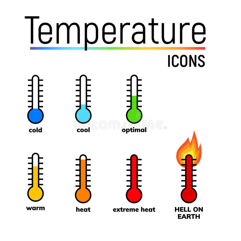 Temperature Icon, Clip Art Stock Illustration