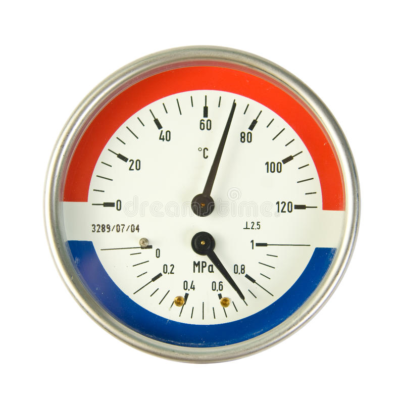 Download Temperature And Pressure Meter Stock Photography - Image: 14882642