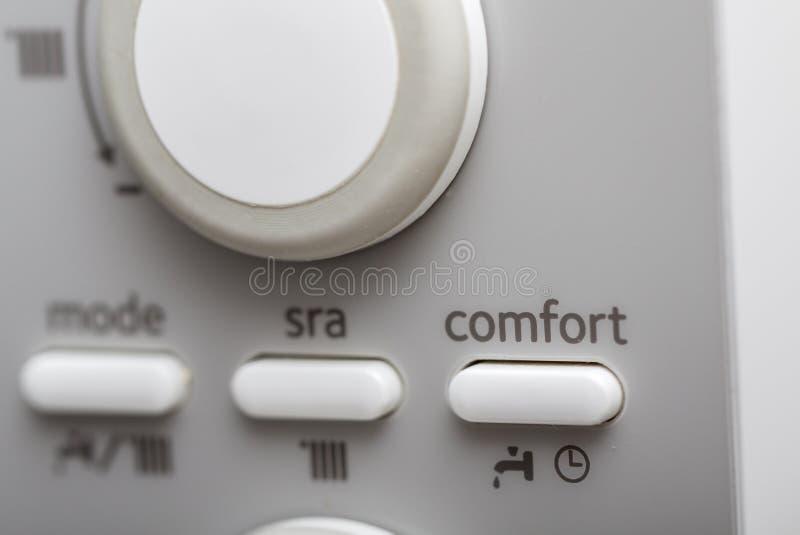 Temperaturinställningar royaltyfri foto
