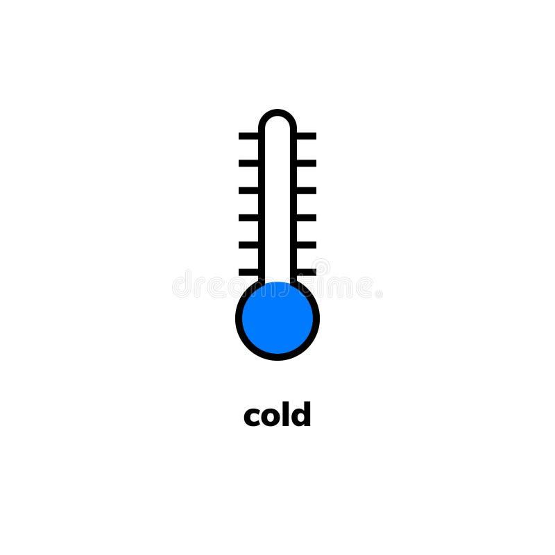 Temperaturowa ikona, klamerki sztuka ilustracji