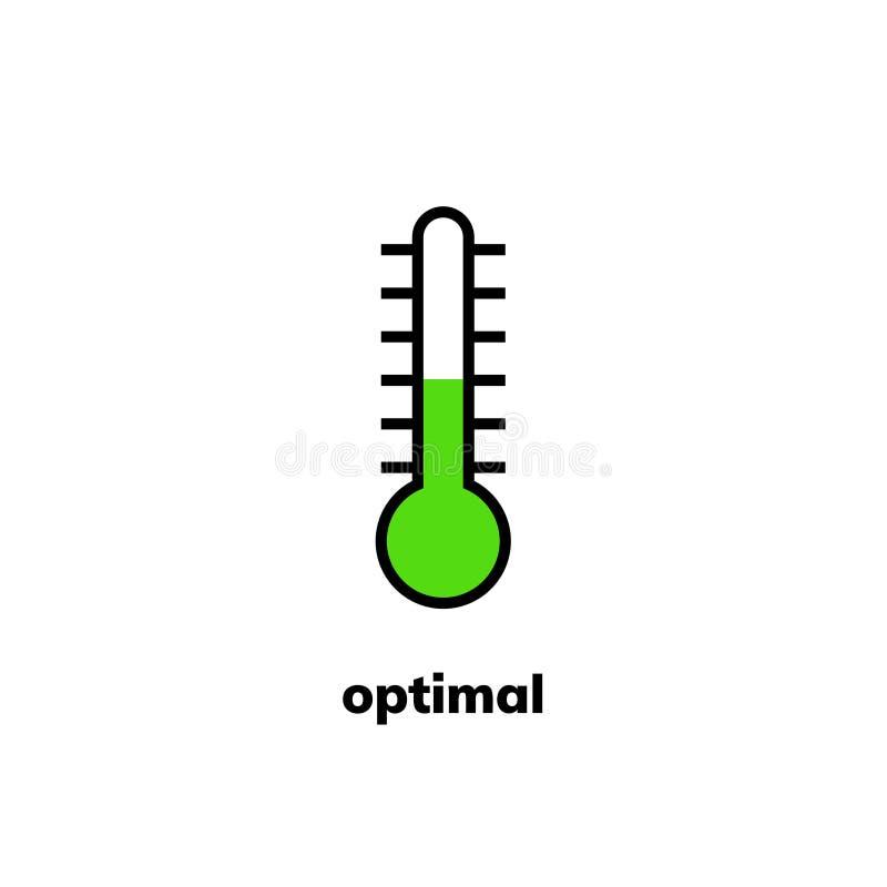 Temperaturowa ikona, klamerki sztuka royalty ilustracja