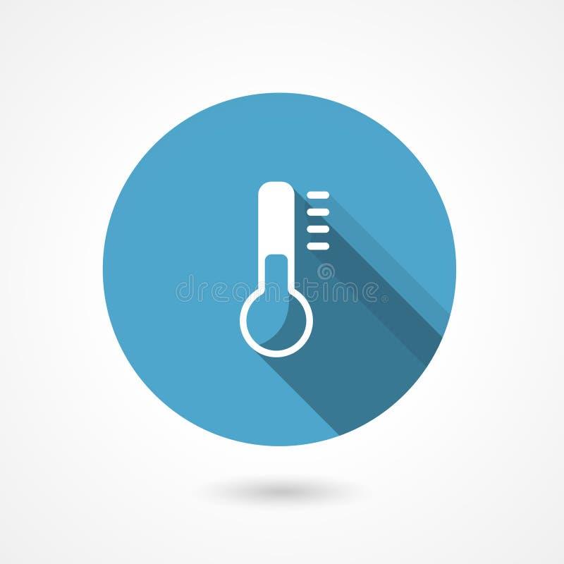 Temperaturowa ikona z termometrem ilustracja wektor