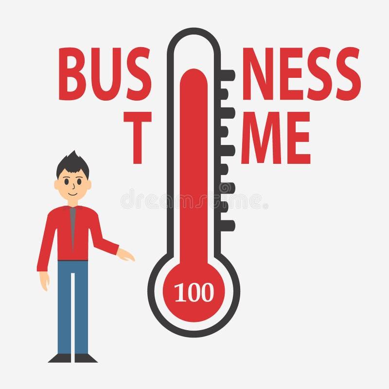 Temperaturowy termometru dnia roboczego pojęcia projekta wektor ilustracja wektor
