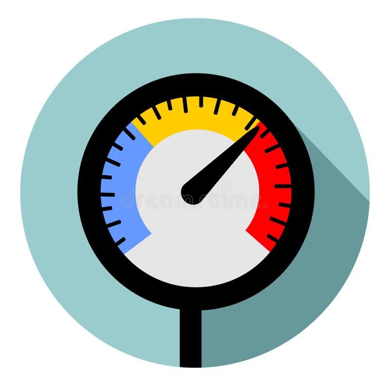 Temperaturowy wymiernik royalty ilustracja