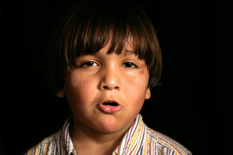 Download Tempered Kid stock image. Image of eyes, angered, peaceful - 517545