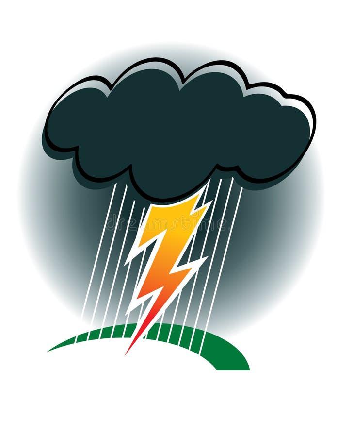 Tempesta illustrazione di stock