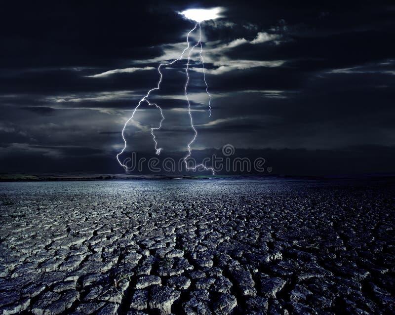 Tempesta al deserto fotografie stock