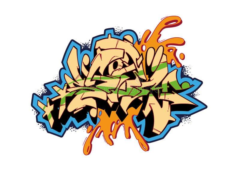 Tempesta dei graffiti illustrazione vettoriale