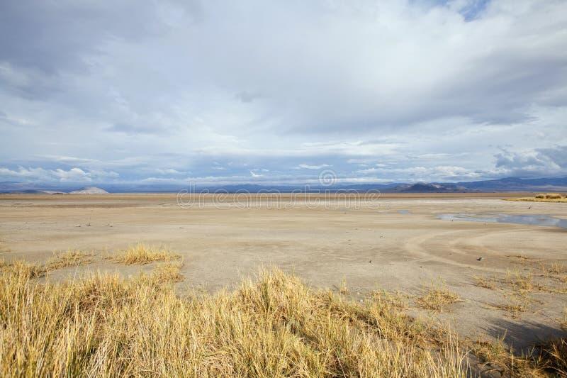 Tempesta del lago asciutto Mojave immagini stock
