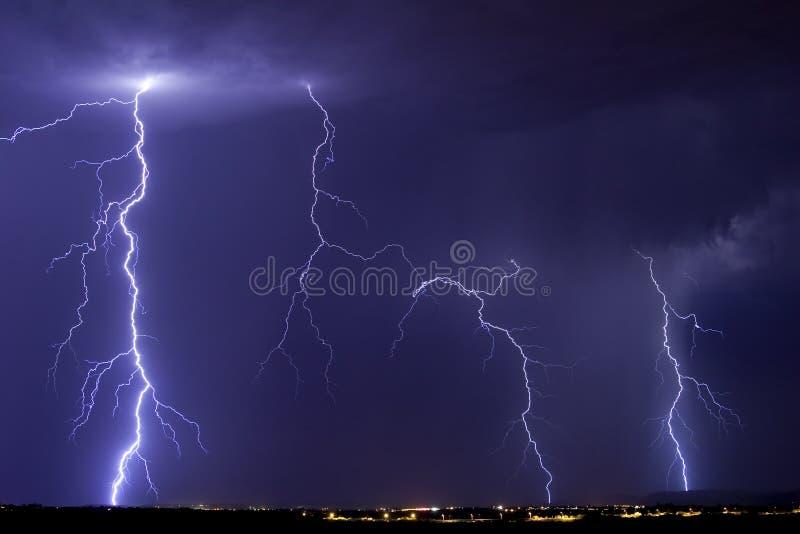 Tempesta del lampo di Catalina immagine stock libera da diritti