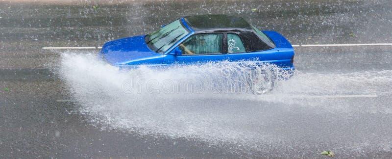 Tempesta della pioggia fotografia stock
