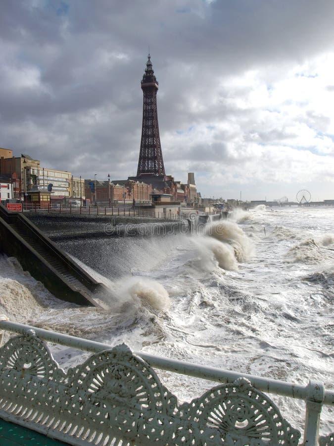 Tempesta di Blackpool immagini stock