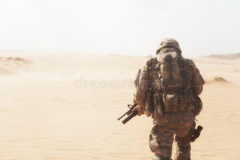 Tempesta di deserto fotografia stock