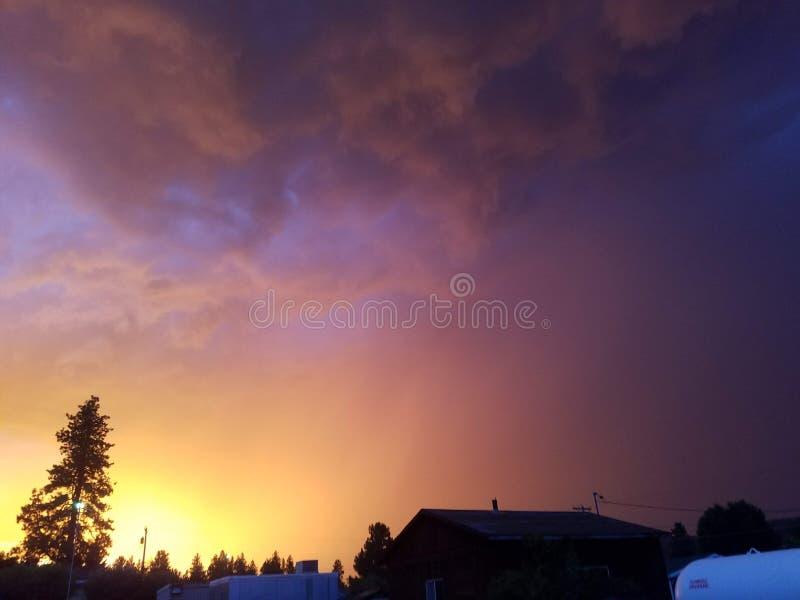 Tempesta di estate fotografia stock