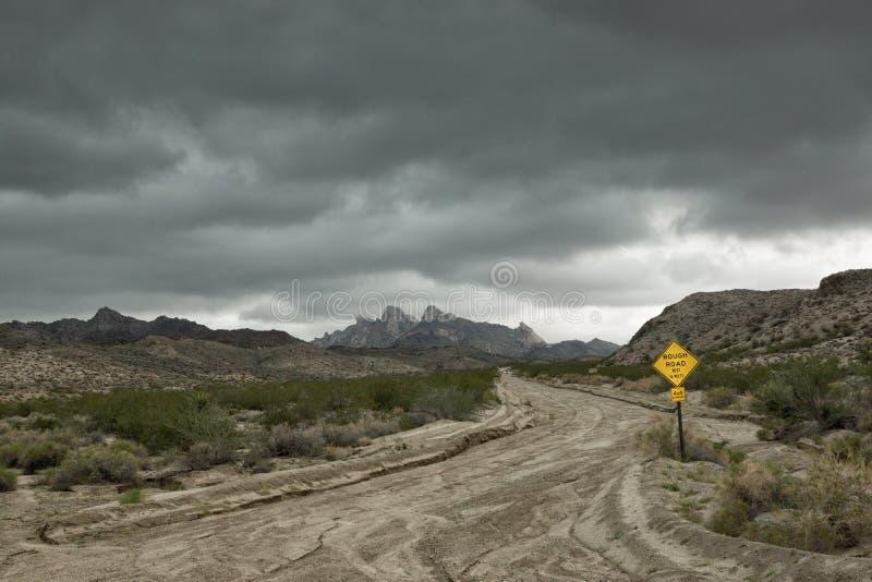 Tempesta di monsone nel deserto fotografia stock libera da diritti