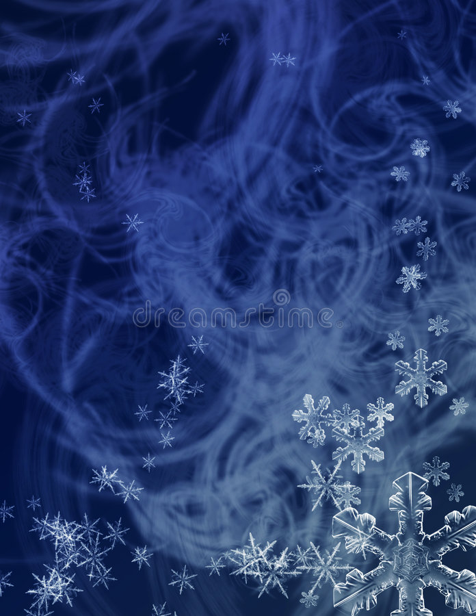 Tempesta di pieno inverno illustrazione vettoriale