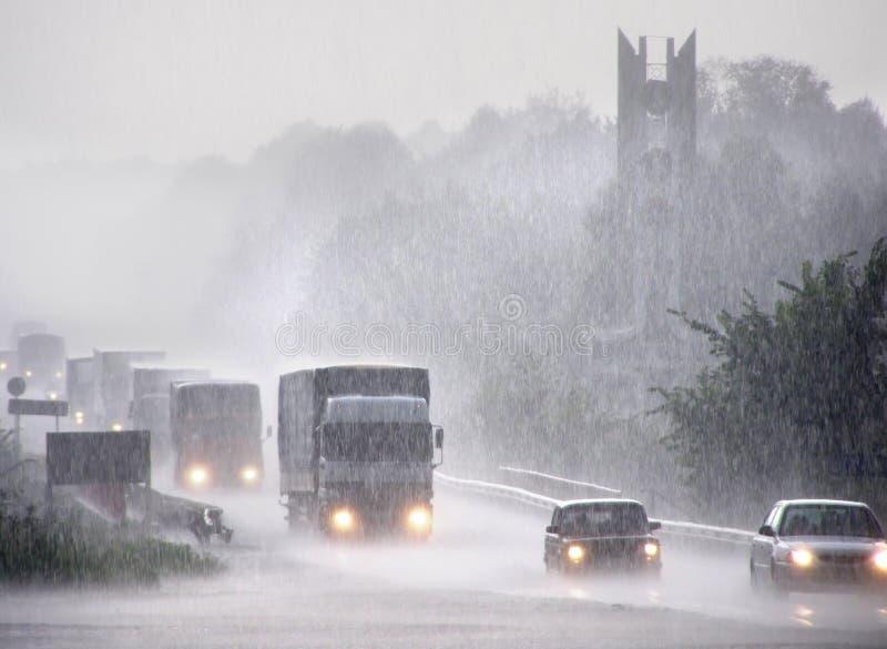 Tempesta di pioggia pesante fotografie stock