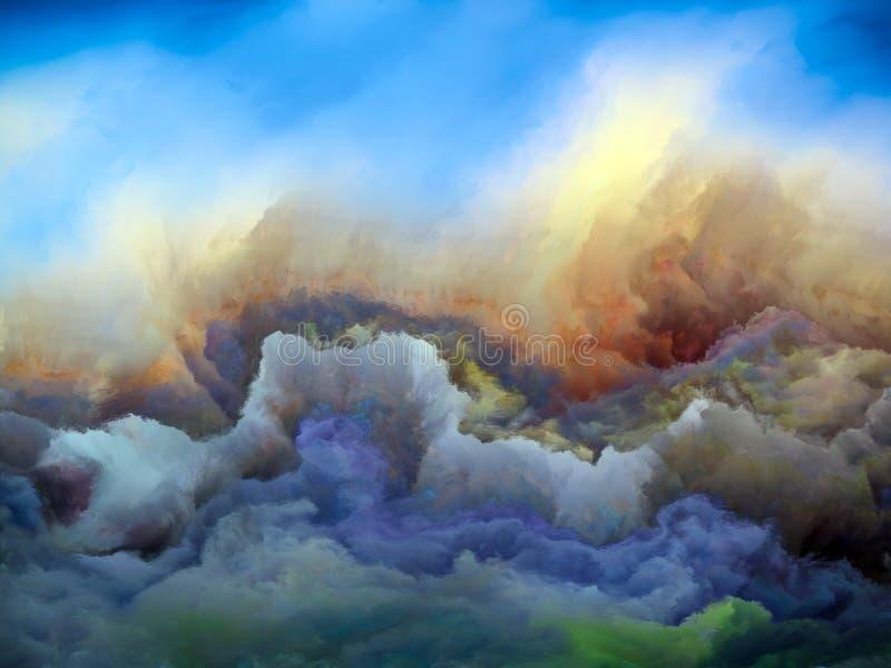 Tempesta di sabbia illustrazione di stock