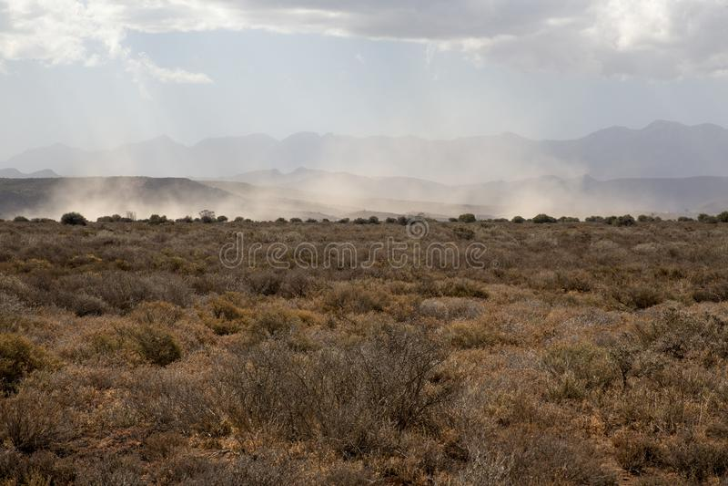 Tempesta di sabbia Africa immagini stock
