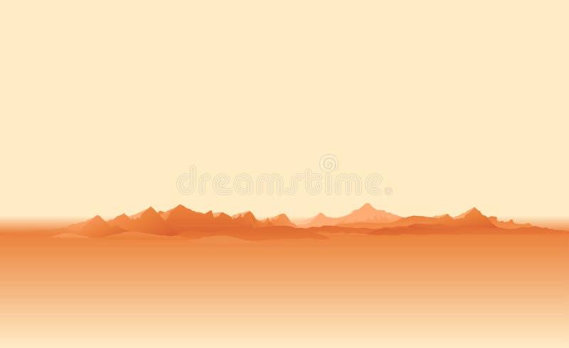 Tempesta di sabbia sul pianeta Marte illustrazione di stock
