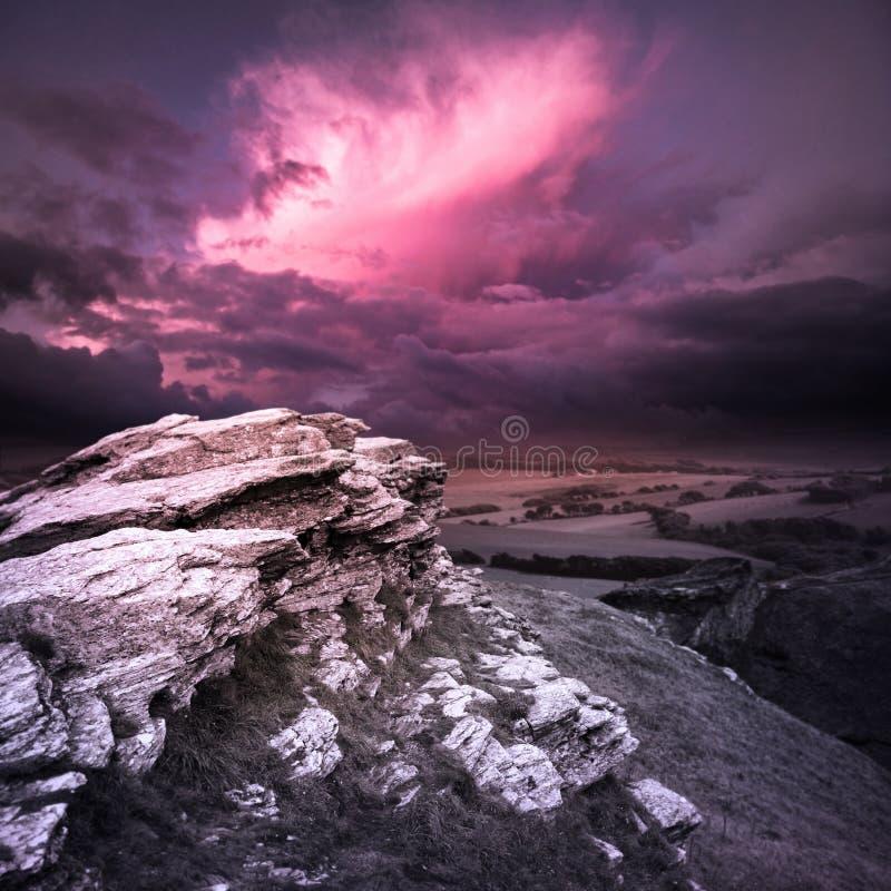 Tempesta di sera fotografie stock libere da diritti