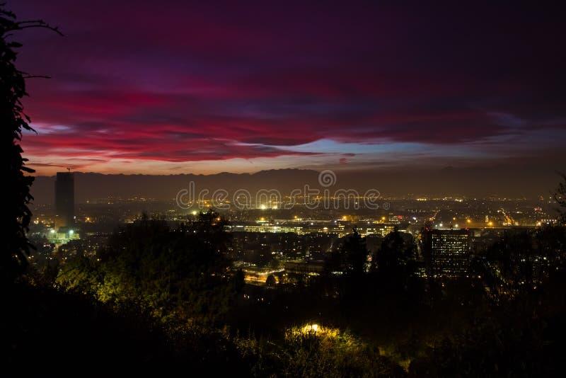 Tempesta di tramonto fotografie stock libere da diritti