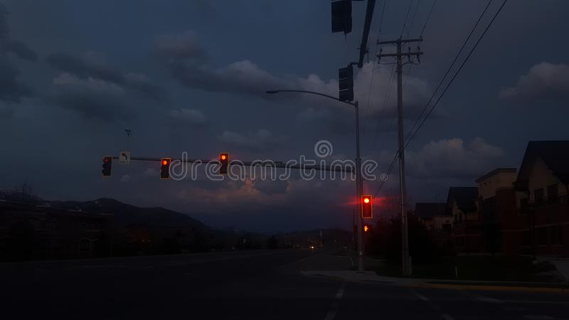 Tempesta di tramonto fotografia stock libera da diritti