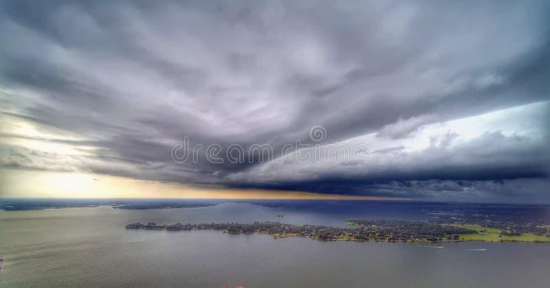 Tempesta diretta a sud immagine stock