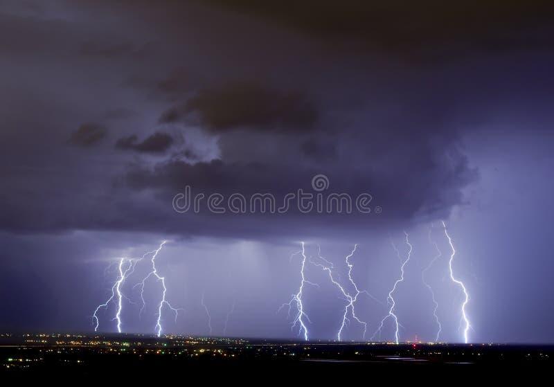 Tempesta elettrica fotografia stock