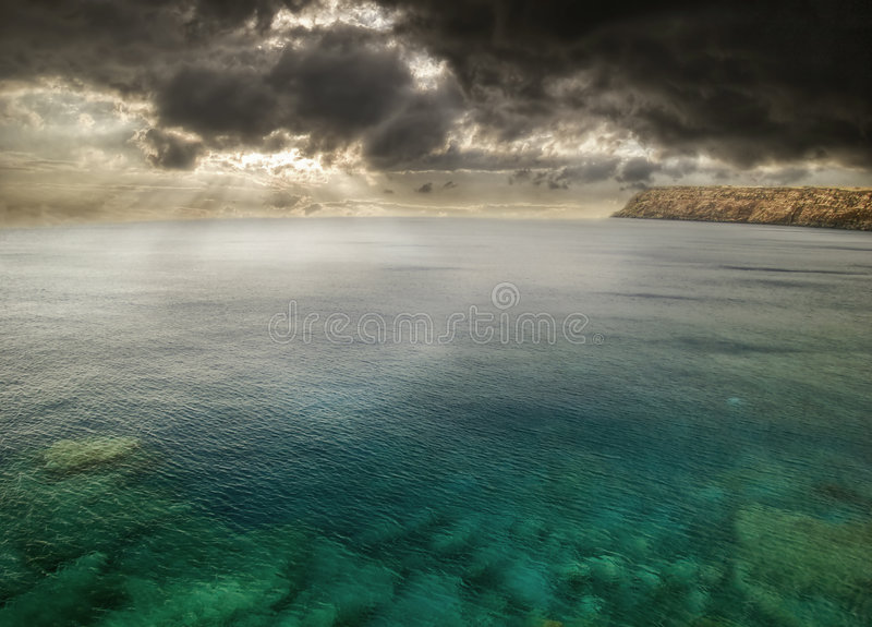 Tempesta intorno all'Hawai fotografia stock