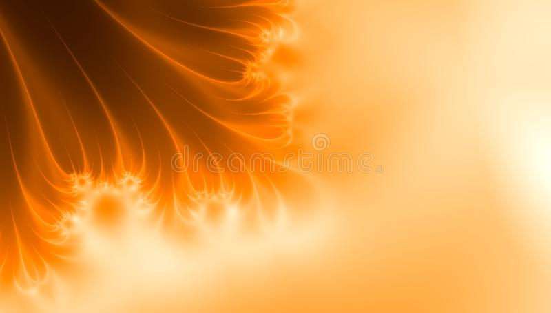 Tempesta solare di Sun, frattale del sole dello spazio illustrazione vettoriale