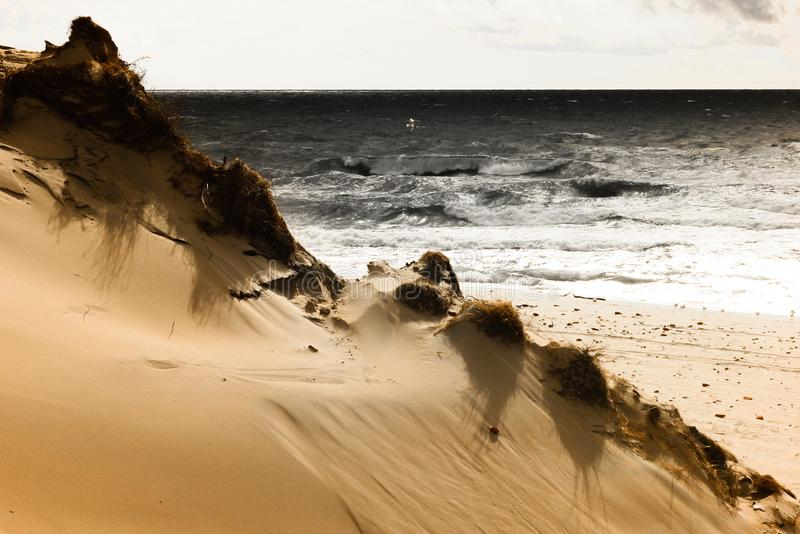 Tempesta sul Mar Baltico immagini stock