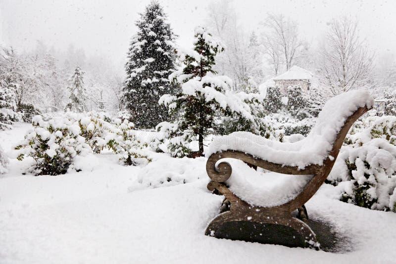 Tempestad de nieve foto de archivo