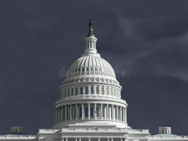 Tempestad de truenos del capitolio de Estados Unidos fotos de archivo libres de regalías