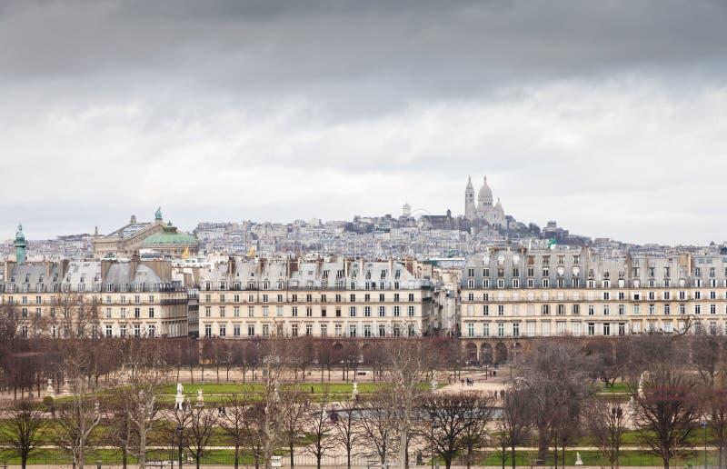 Tempestad en Montmartre imágenes de archivo libres de regalías