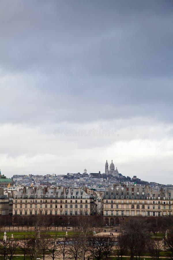 Tempestad en Montmartre imagenes de archivo