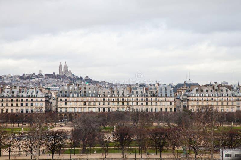Tempestad en Montmartre fotografía de archivo